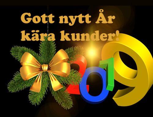 Gott nytt år kära kunder!