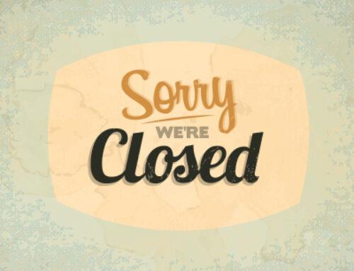 Butiken är tillfälligt stängd